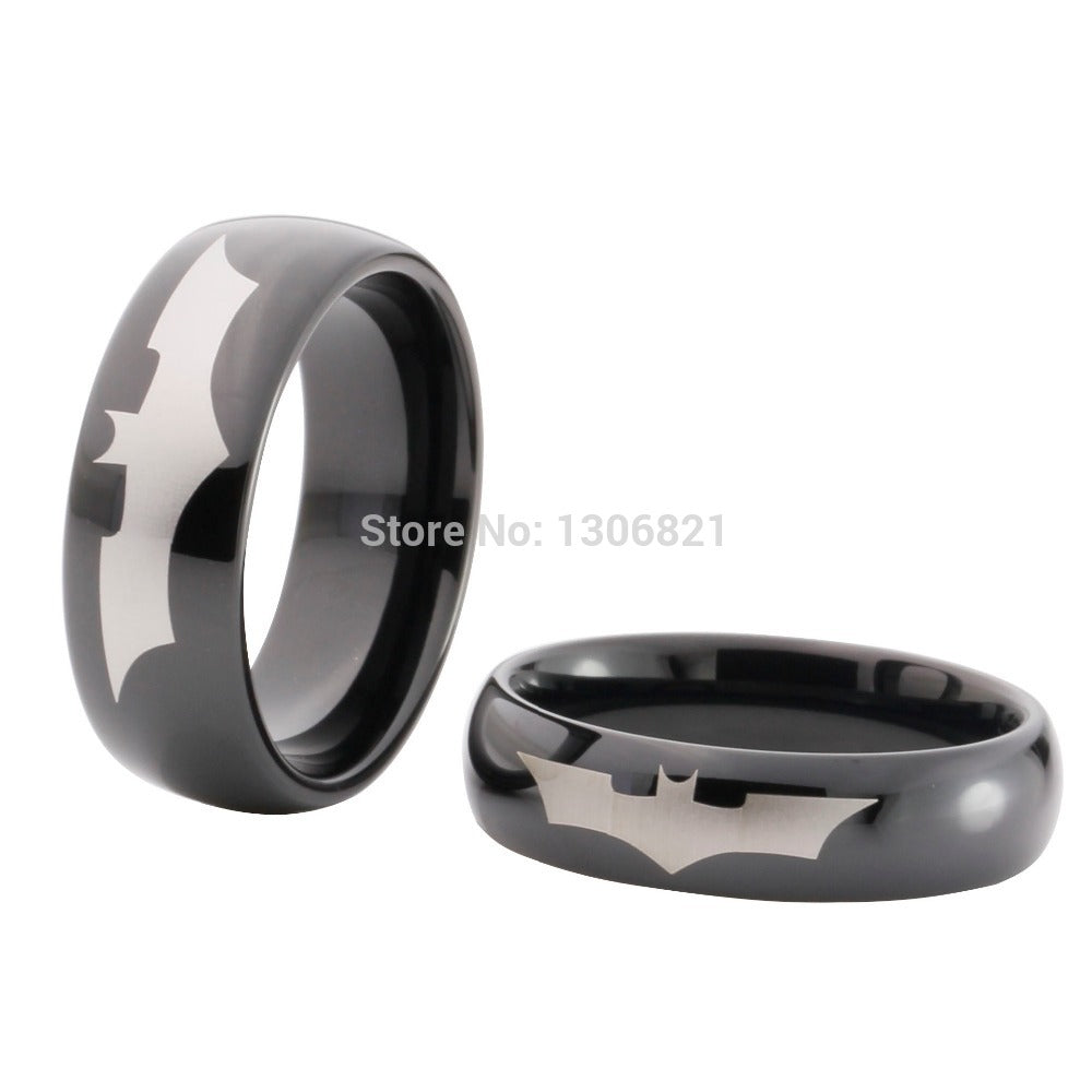 Anello batman anello bestseller anello in tungsteno placcato nero uomo batman ring
