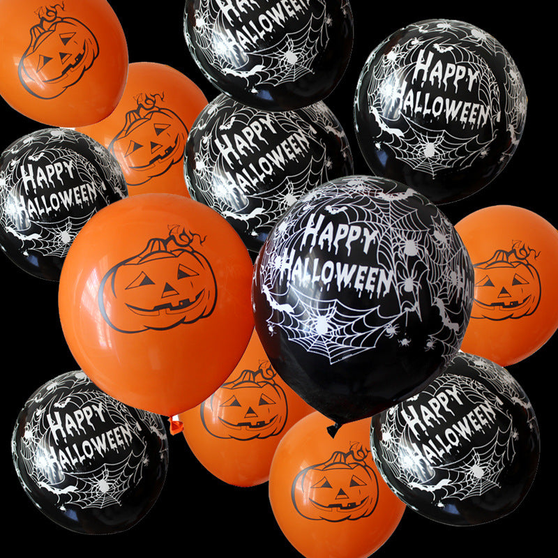 10 Stelle Halloween Decoratie 12 Inch Latex Ballonnen Pompoen Ballons Halloween Opblaasbare Balls Gelukkige Verjaardag Party Supplies