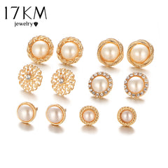Earrings with Zircon Crystal, Color (Gold)
