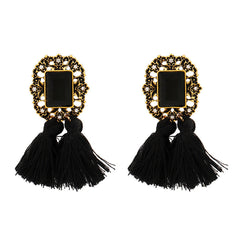 2017 Women Fashion Crystal Rhinestones Wool Tassels Earring Gorgeous Retro Acces
