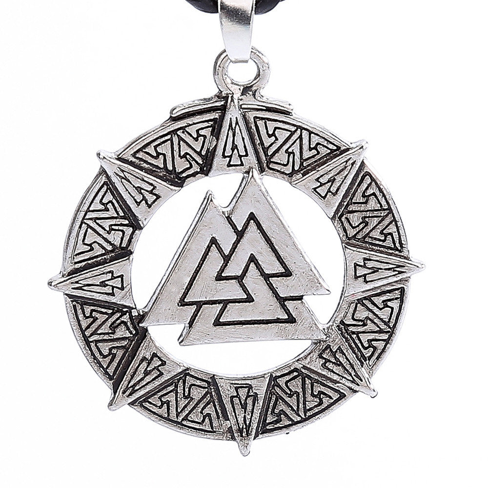 Slavic Norway Valknut  Pendant Men Necklace ,Jewelry Warrior Symbol