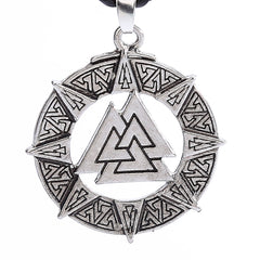 Slavische Noorwegen Valknut Pendant Men Necklace, Jewelry Warrior Symbol