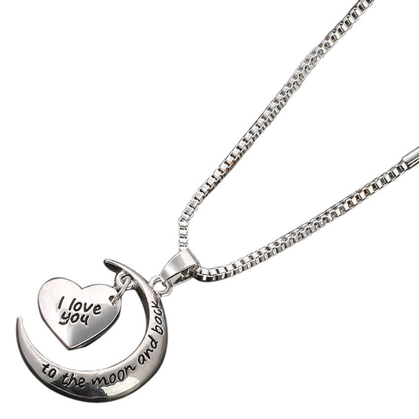 I Love You To The Moon & Back Necklace Hangertjie