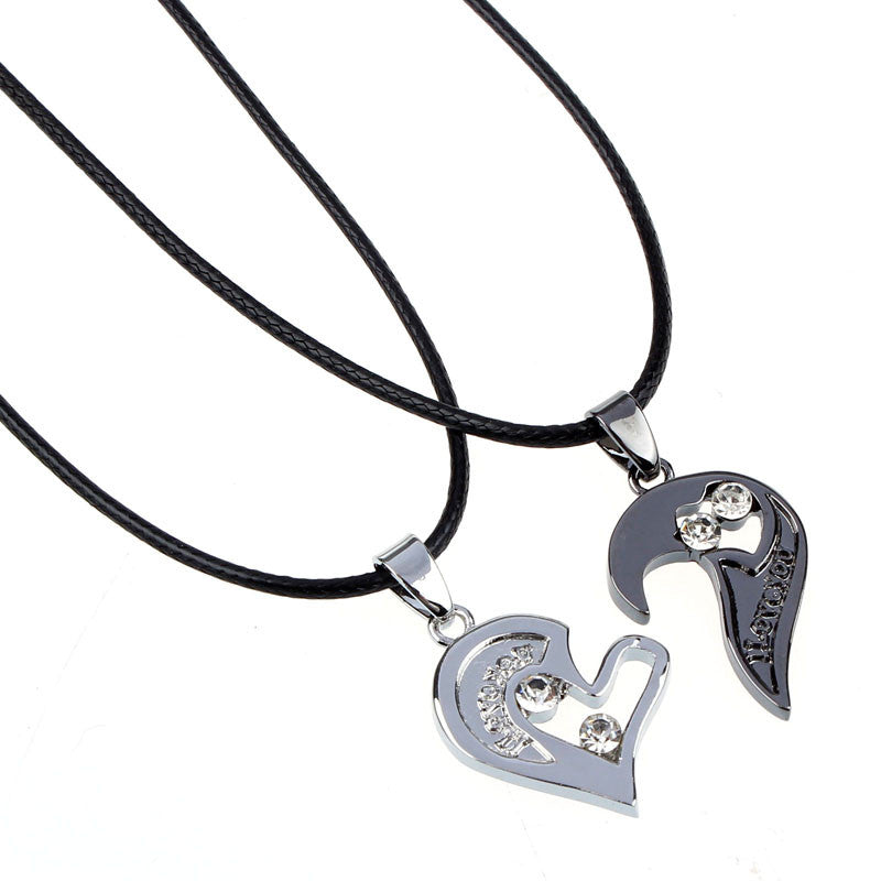 Bi lagunen artean I Love You Heartbreaker Necklace for Lovers Couples