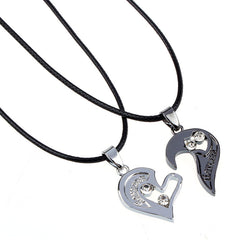 Two in one I Love You Heart Pendant Necklace voor Lovers Couples