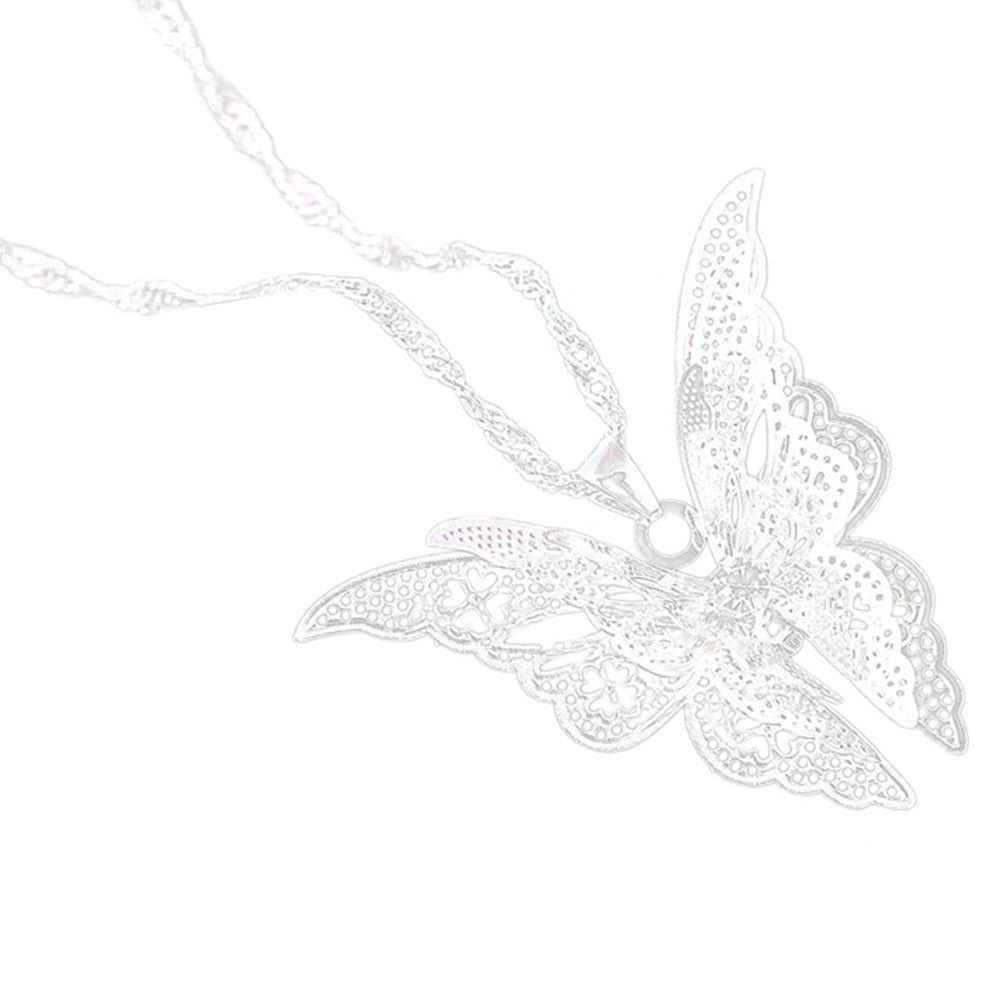 Kvinner Lovely Butterfly Anheng Chain Necklace Smykker