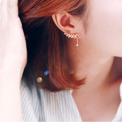 1 bikotea Fashion Women Elegant Crystal Rhinestone Ear Stud Earrings Jewelry GD