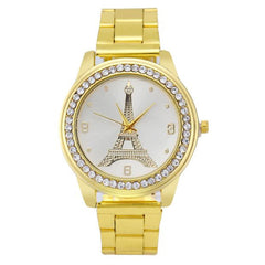 Womens Stainless Steel Quartz Analog Wrist Watch