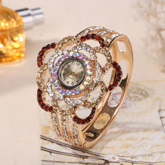 Womens Luxury Band Hollow Out Gelang Kristal Kuarsa Banget Gelang
