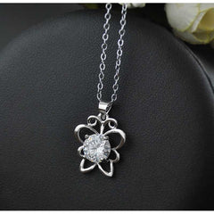 Womens Simple Cute Butterfly Crystal Chain Necklace