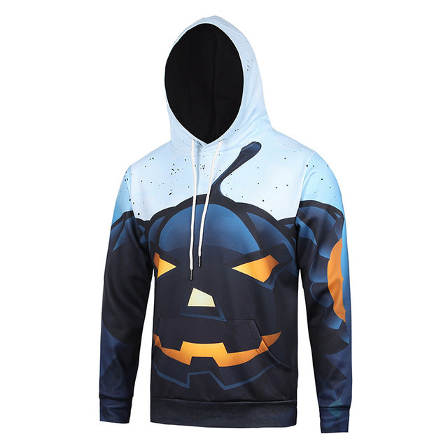 More Style 2018 Space Halloween 3d Hoodie Sweatshirt For Men/Women Autumn Winter Male Loose Thin Hooded Jacket Hoodies for gift