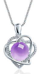 2017 Sale Limited Link Chain Colares Aeotaku 925 Crystal Necklace Female Pendant Valentine's Day Gift To Send A Girlfriend