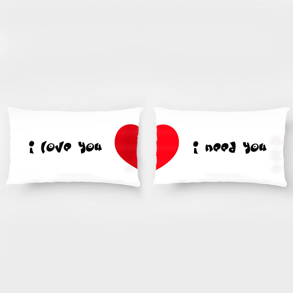 """Rydw i'n Caru Chi Rydw i Angen i Chi Chi"" Dillad Valentine's, Pillowcases-romantic Valentine's Day, Gifts and Decoration Wedding for Couples & Lover"