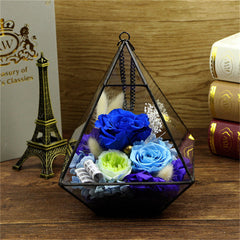 Zipi Preserved Fresh Flower Flowerhouse Box Wedding Decoration Birthday Christmas Valentine Gift Home Hotel Decoration Wholesale