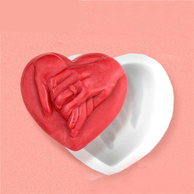 Silicone Mold Hand Romantic DIY Valentine 's Day gift soap molds food grade mould handmade soaps aroma stone moulds
