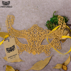 PMYUMAO Golden Sexy Lace Mask Fox Appearance Modeling Temptation Female Party Masks New Listing Halloween Dressing Mask
