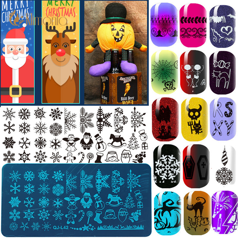 Halloween, Manicure Nail Print Template