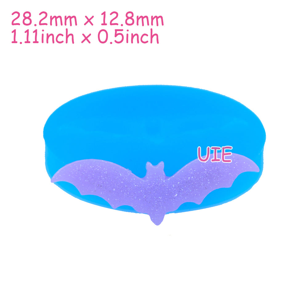 Halloween Bat Silicon Push Mould, Cookie Biscuit, Icing, ការតុបតែងនំ,