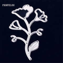 PANFELOU Long leaves Metal craft paper die cutting dies for Scrapbooking/DIY Hand account Christmas wedding Halloween cards