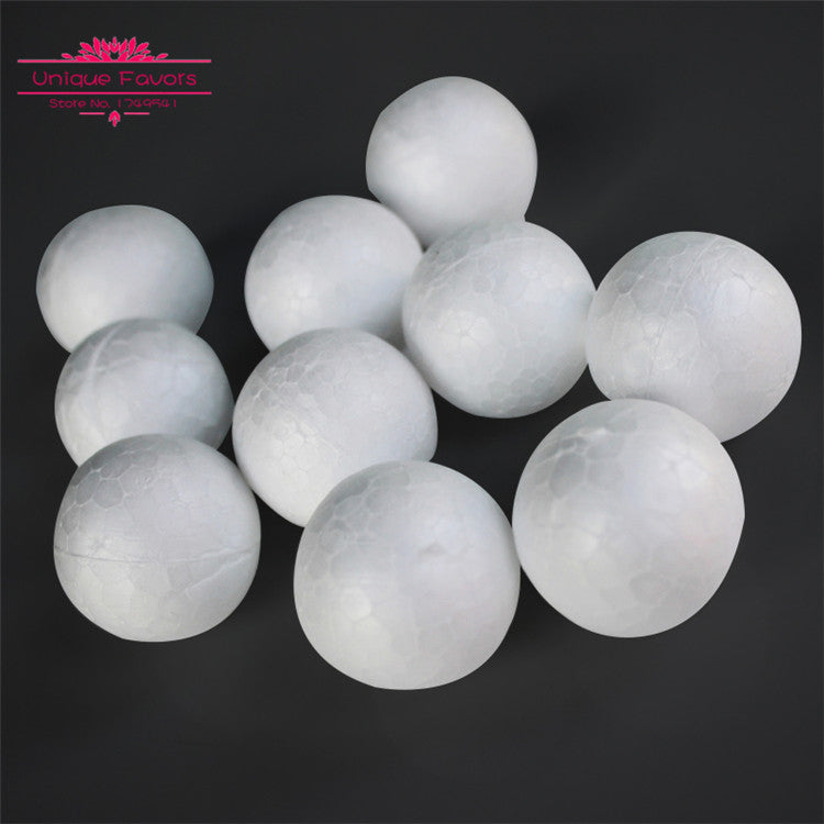 100pcs Medium 35mm Wit Skuimballe Styrofoam Ronde Handwerkbal Polistireen vir Kersboom Ornament