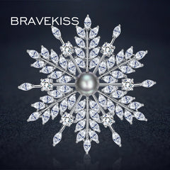 Snowflake Fashion Broches for Christmas Gift For Women