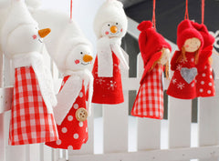 3Pcs Cute Christmas Dolls