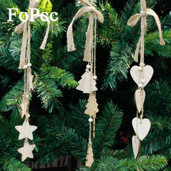 Cute Wooden Five Pointed Stars for Christmas Tree Ornament
