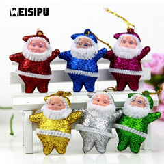 6pcs / lot 5cm Mini Multicolor nukud Chrismas Party Gift jaoks