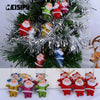 6pcs / lot 5cm multicolor boneka Natal Ornament
