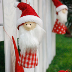 Nuwe Cute Santa Claus Face vir Home Ornament & Gift