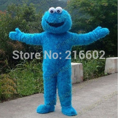 Sesame Street Blue Cookie Monster Mascot costume Adult size Halloween