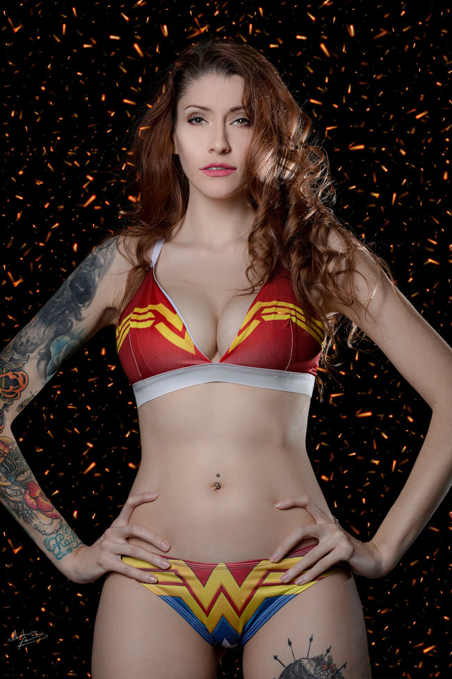 Wonder woman uniform bra - Geek Skin - Geek Underwear -