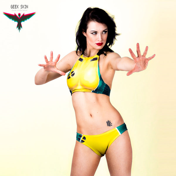 Rogue xmen uniform bikini set swimwear - Geek Skin - Geek Underwear
