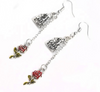 Castle And Rose Earrings