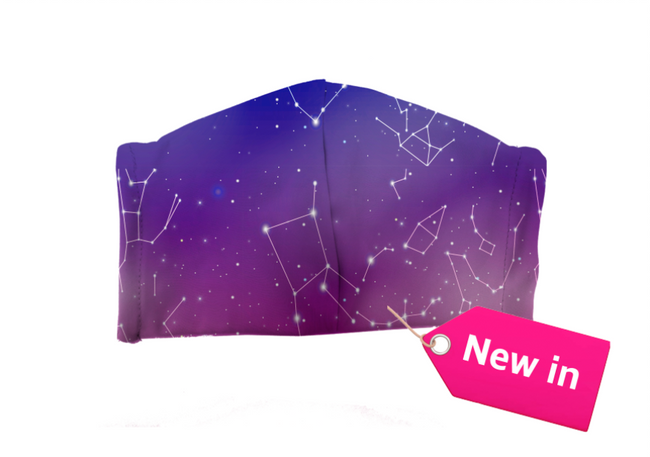 Galaxy face mask - Geek Skin - Geek Underwear -