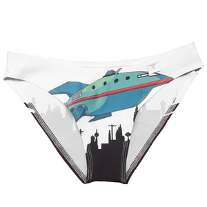 Futurama skyline planet express panties - Geek Skin - Geek Underwear