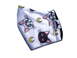 Sailor moon artemis&luna face mask - Geek Skin - Geek Underwear -