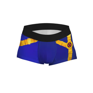 Boxer trunk Cyclops uniform marvel Scoot Summers logo xmen - Geek Skin - Geek Underwear