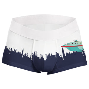 Futurama skyline planet express boxer - Geek Skin - Geek Underwear
