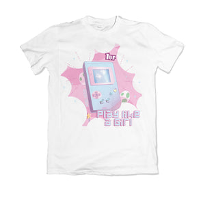 "T-shirt videogame ""play like a girl"" 