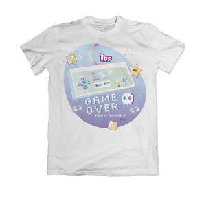"T-shirt nintendo Super mario ""game over"" 