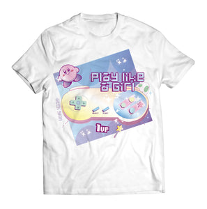 "T-shirt kirby nintendo ""play like a girl"" 