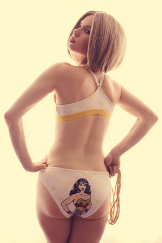 Set with logo and comic charachter Wonder woman - Geek Skin - Geek Underwear