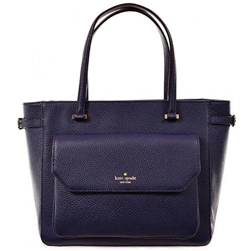 Kate Spade Boxwood Road Alainna Leather Tote Handbag - French Navy (WKRU3757)