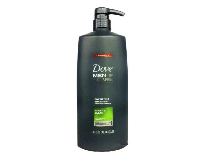 Dove Men+ Care Fresh Clean Fortifying Shampoo and Conditioner, 40 Oz