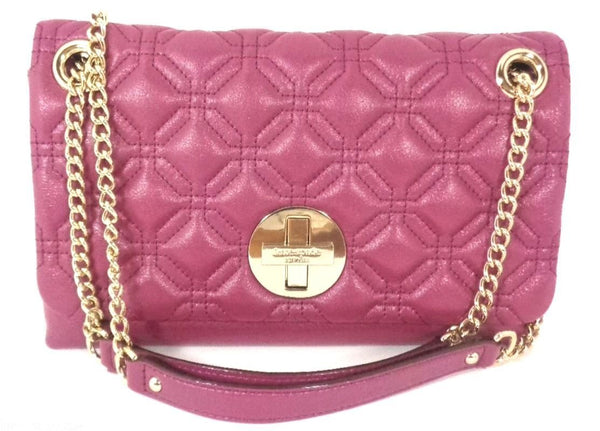 Kate Spade Cynthia Astor Court Quilted Leather Shoulder Handbag - Red Plum (WKRU2650)