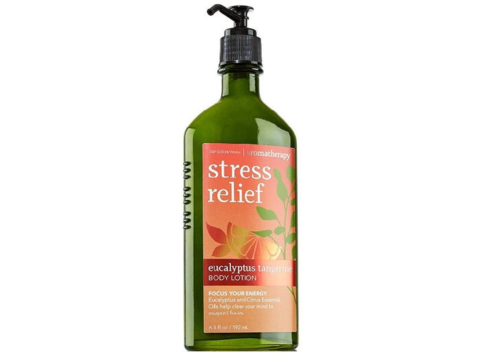 Bath & Body Works Aromatherapy Stress Relief Eucalyptus Tangerine Body Lotion, 6.5 Oz