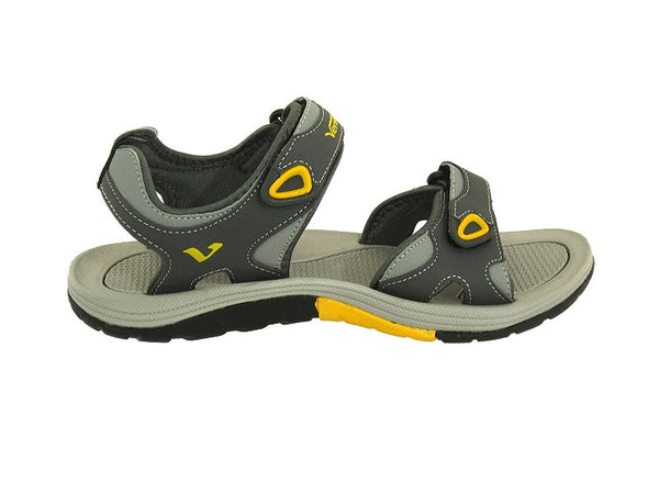 VENTO Casual Men's EVEREST Sandal (10, GREY/YELLOW)