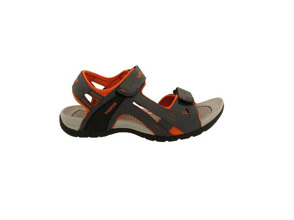 VENTO Casual Men's MAKALU Sandal (10, GREY/ORANGE)