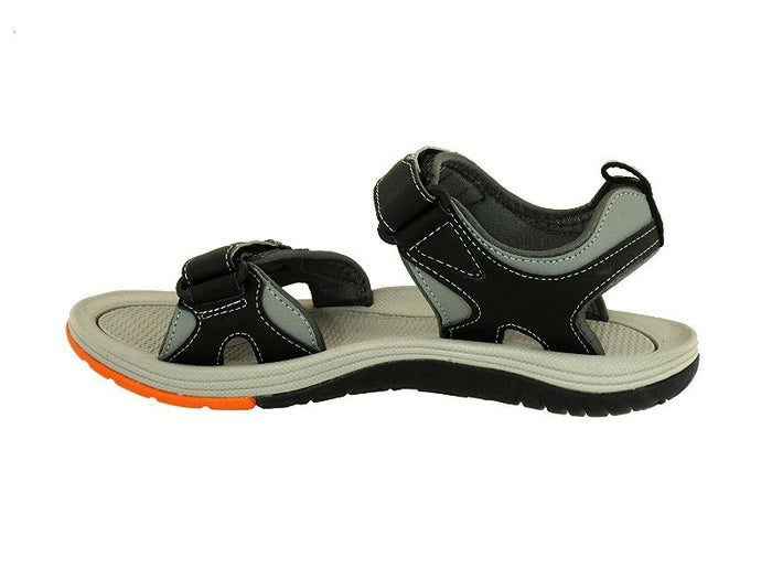 VENTO Casual Men's EVEREST Sandal (BLACK/ORANGE)